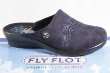 Fly Flot Damen Pantoffel Pantoletten Hausschuhe blau 863312 Neu!