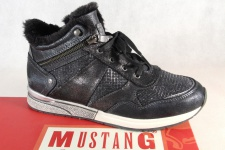 Mustang Stiefel Stiefeletten Stiefelette Schnürstiefel Boots grau 1289 NEU!