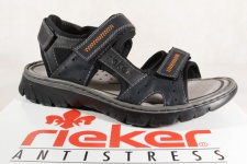 Rieker Sandale Sandalen Sandaletten blau Klettverschluss 26757 NEU