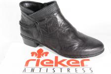 Rieker Stiefel Stiefeletten Boots Winterstiefel schwarz, gefüttert Y0780 NEU