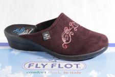 Fly Flot Damen Pantoffel Pantoletten Hausschuhe bordo 863316 Neu!
