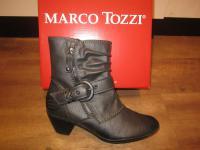 Marco Tozzi Stiefel Stiefelette Stiefeletten grau, leicht gefüttert. RV NEU!!