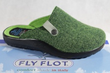 Fly Flot Damen Pantoffel Pantoletten Hausschuhe grün 863152 Neu!