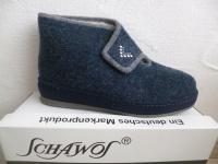 Schawos Damen Hausschuhe Hausschuh Pantoffel Pantoletten blau 2060 NEU!!