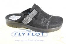 Fly Flot Herren Pantoffel, Filzstoff, schwarz, Fußbett NEU!!