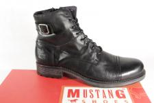 Mustang Herren Stiefel Stiefeletten Boots Winterstiefel Echtleder schwarz NEU!