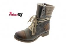 Rieker Stiefel 79631 Stiefelette Boots Winterstiefel braun/grau gefüttert NEU