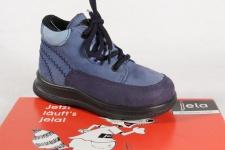 Jela Knaben Stiefel Stiefeletten Boots Leder JelaTex wasserdicht blau NEU!