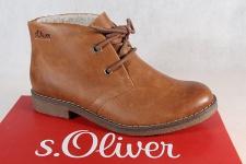 S.Oliver Stiefel, Stiefelette, Boots, Velourleder, braun, gefüttert 26111 NEU