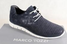 Marco Tozzi Damen Schnürschuhe 23728 Sneakers Halbschuhe navy Echtleder NEU!