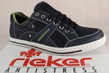 Rieker Herren Schnürschuhe, Sneakers Halbschuhe blau 19020 NEU