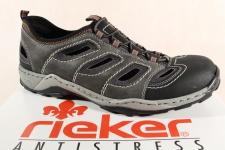 Rieker Slipper Sneakers Halbschuhe grau weiche Lederinnensohle 08065 NEU