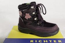 Richter Mädchen Stiefel Stiefeletten Boots Leder/ SympaTex violett 1671 NEU!