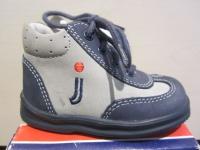 Jela LL-Stiefel blau/grau Lederfußbett Neu !!!