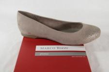 Marco Tozzi Ballerina 22104 Slipper beige/gold Kunstleder NEU!