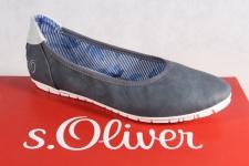 S.Oliver Ballerina Slipper blau NEU!!