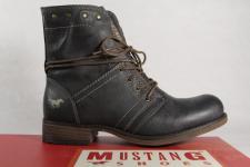 Mustang Stiefel 1139 Stiefeletten Schnürstiefel Boots grau NEU!