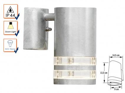 Wandleuchte MODENA galvanisierter Stahl, GU10, Höhe 13, 5 cm, IP44