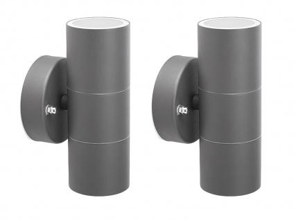 2er-Set Up-/Down Außenwandleuchten IP44, inkl. 2 x 3W LED 230 Lumen, GU10-Sockel - Vorschau 2
