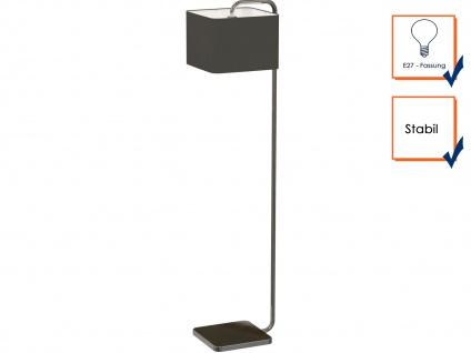 Eckige designer Stehleuchte CUBE mit schwarzem Stoffschirm, Stehlampe Wohnzimmer - Vorschau 3