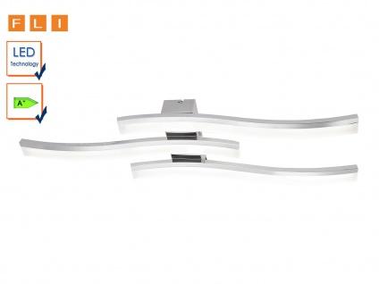 LED Deckenleuchte 87cm, Design Welle, Chrom / Acryl, FLI-Leuchten