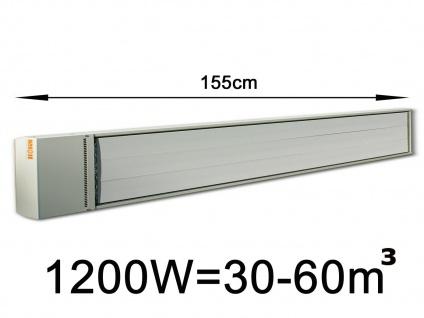 1200W Industrie-Strahlungsheizung f. Räume 30-60m³, pulverbeschichtet