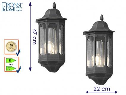 2er Set Außenwandleuchte Alu schwarz, E27, Wandleuchte Hauswand Terrasse Lampe