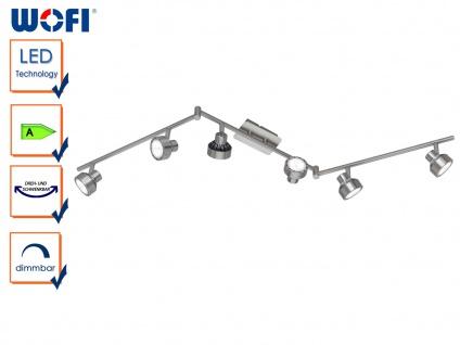 6-flammige LED Deckenlampe LOCAL, dimmbar, Deckenleuchte Spotleiste Deckenbalken