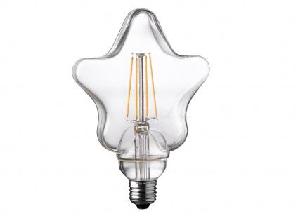 FILAMENT LED Leuchtmittel Sternform 4 Watt, 300 Lumen, 1800 Kelvin, E27-Sockel - Vorschau 2