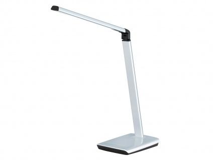 2er Set LED Schreibtischleuchte neigbar Touchdimmer USB Anschluß Silber Büro - Vorschau 3