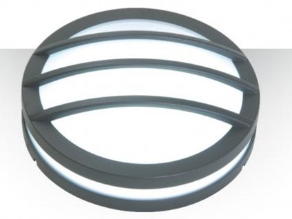 Design Außenwandleuchte Ø26cm Druckguss Aluminium IP54 E27 Fassung Wandleuchte - Vorschau 4
