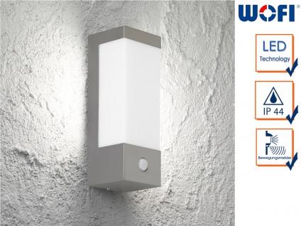 Edelstahl LED Außenwandleuchte mit Bewegungsmelder 7 Watt Beleuchtung Fassade