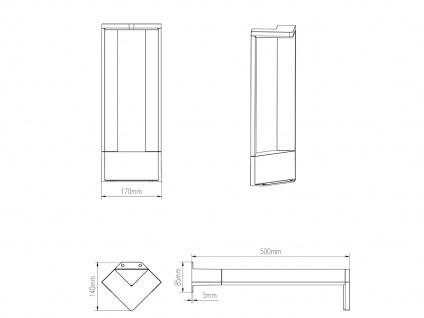 LED Sockelleuchten in Anthrazit 50cm - 3er Set Wegeleuchten Terrassenbeleuchtung - Vorschau 4