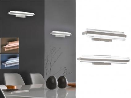 LED Wandleuchtenset: 2 Wandlampen 35 & 46cm mit Taster für Dimmen und Lichtfarbe