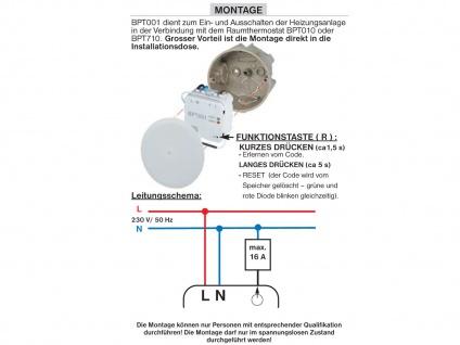 Funkempfänger Unterputz, Steuerung Infrarotheizung, Vitalheizung - Vorschau 3