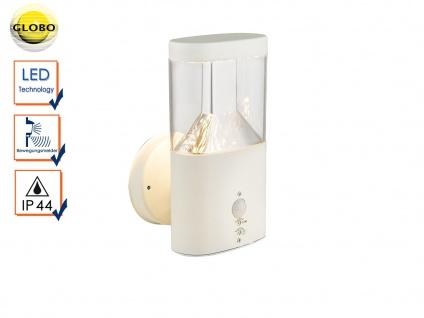 weiße LED Außenwandleuchte mit Bewegungsmelder ? Terrassenlampe Fassadenleuchte