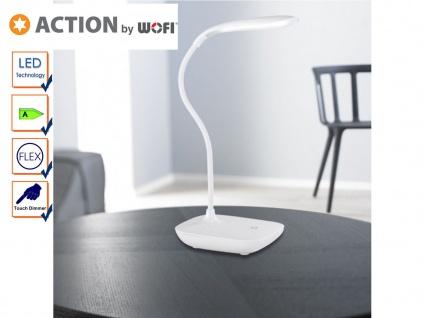 Flexible LED Schreibtischlampe weiß, Dimmer, USB, Action by Wofi