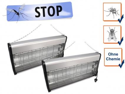 2er Set Insektenvernichter Stechmückenfallen mit UV Licht, Bereich je 150m²