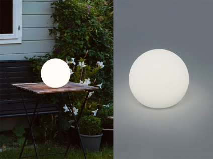 2x LED OUTDOOR Kugel Tischleuchte kalbellos für Außen Akku Batterie USB Anschluß