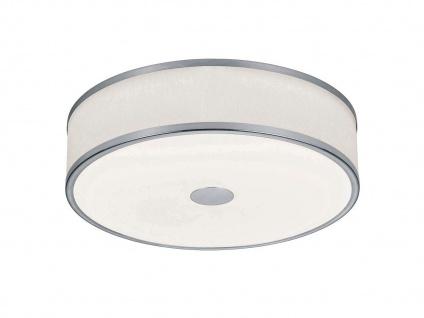 LED Deckenleuchte Ø40cm mit weißem Stoffschirm, Nickel matt mit SWITCH DIMMER - Vorschau 2