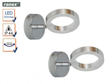 2er Set LED Wandleuchten ANZIO fürs Badezimmer, Spiegelleuchten Bad schwenkbar