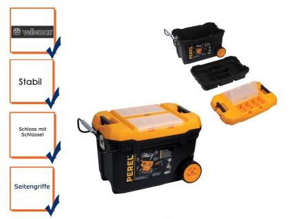 Werkzeugtrolley Werkzeugkasten Werkzeugkoffer Trolley Kunststoff H: 42 cm
