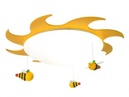 Kinderdeckenlampe Sonne & Bienen bruchsicher Deckenleuchte für Kinderzimmer rund - Vorschau 2