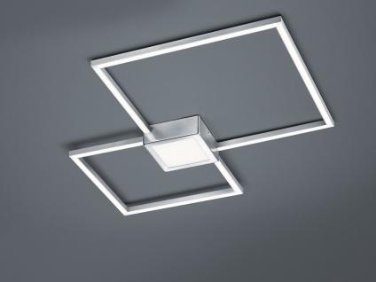Eckige LED Deckenlampe 65x65cm in Nickel matt/weiß mit 3-stufigem Switch Dimmer