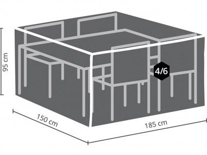Schutzhülle M Abdeckung rechteckig 185x150cm für Gartenmöbel, Plane wasserdicht - Vorschau 3