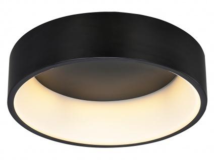 Große runde LED Deckenleuchte mit Metallschirm schwarz - 2er Set fürs Wohnzimmer - Vorschau 5