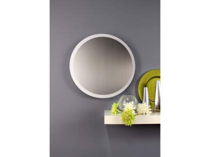 Angesagte LED Innenlampe für Wand und Decke mit Spiegel Design Silber rund 50cm - Vorschau 4