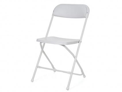 Robuster Klappstuhl weiß, faltbarer Stuhl, Campingstuhl klappbar, Terrassenmöbel