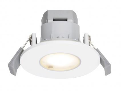 LED Einbaustrahler Decke rund Ø 8, 5 cm Aluminium Weiß 5, 5W IP65 - Badleuchten