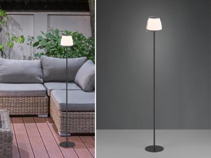 Outdoor LED Stehleuchte Touch Dimmer, USB Anschluß, 136cm hoch Terrassenleuchte